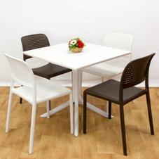 ריהוט גן ומרפסת שולחן קליפ כסאות בורה ביסטרו