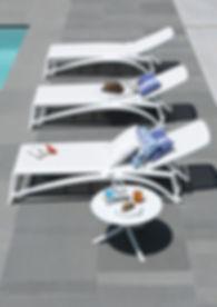 מיטות שיזוף לבריכה