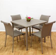 ריהוט פנים וחוץ שולחן מיסטרל 90 כסאות רגינה