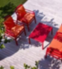 ריהוט למרפסת מערכת ישיבה לגינה