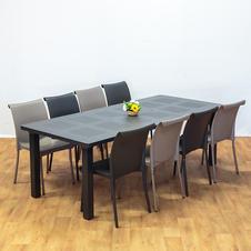 שולחן לבנטה כיסאות אלומיניום רגינה