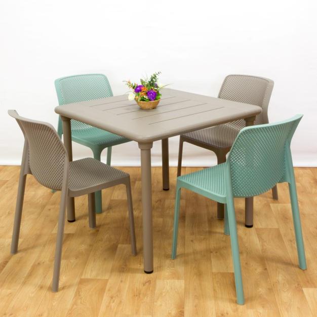 ריהוט גן ומרפסת שולחן מיסטרל 90 כסאות ביט