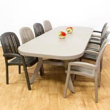 שולחן הגדלה טוסקנה 250 כסאות פלסטיק פונזה
