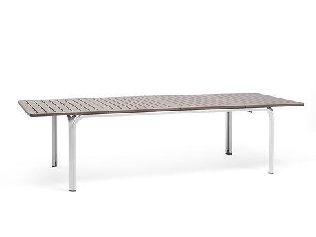 שולחן לגינה מאלומיניום ופלסטיק