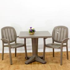 ריהוט גן ומרפסת שולחן גיוב 80 כסאות פונזה