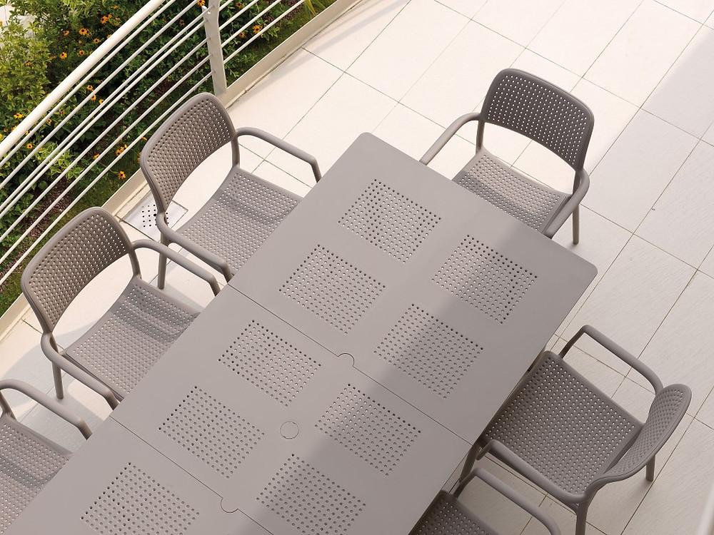 """שולחן לגינה """"ליבקיו"""" - שלד אלומיניום ופלטת DurelTOP"""