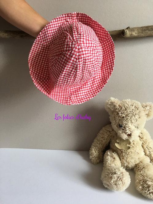 Chapeau vichy rouge