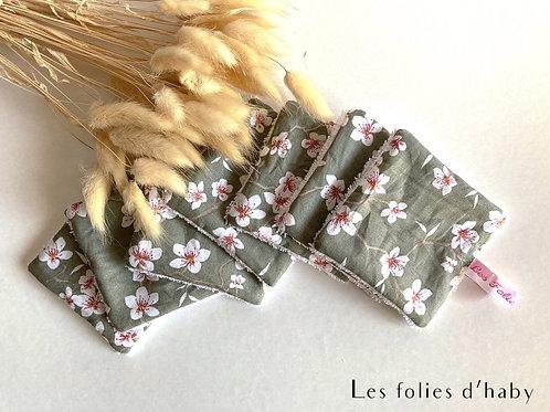 Lingettes démaquillantes fleurs cerisier kaki (7)