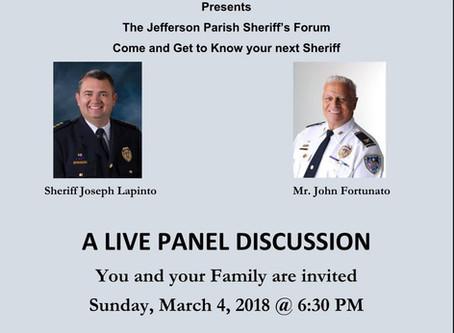 The Jefferson Parish Sheriff's Forum