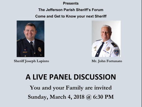 The Jefferson Parish Sheriff's Forum