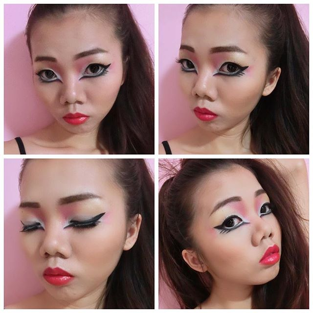 Punk make up eyeliner in Color _#punk #punkstyle #punklook #punkmakeup #eyeliner #eyelineronpoint #m
