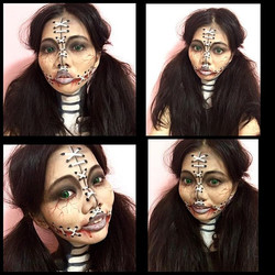 A doll makeup for Halloween