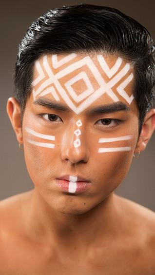 Makeup-Artist-Tribal-Makeup-for-men-crea
