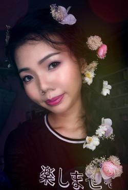 Bridal Hairdo and Makeup
