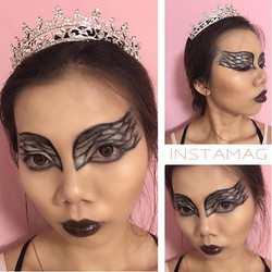 One of the black swan make up that I did