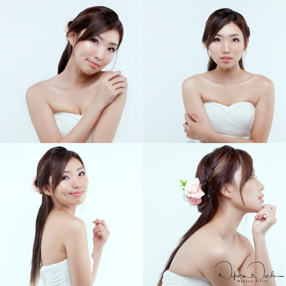 [The Beautiful Brides]:  Kiki by Singapore Makeup Artist Nikoru Nicole