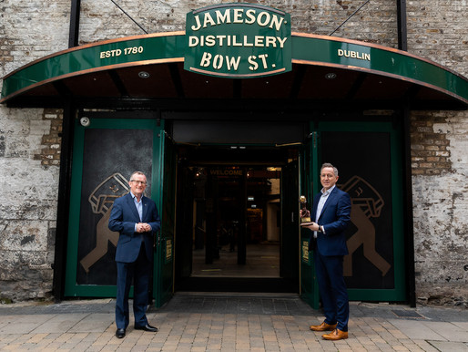 Jameson Distillery Bow St. Named World's Leading Distillery Tour For The Third Year In A Row