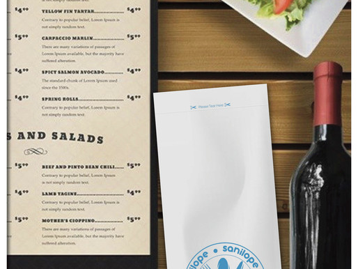 Dining Out With Peace Of Mind With The Launch Of The SanilopeTM Sanitized Cutlery Envelope From Trim