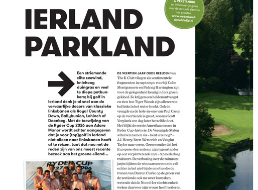 Dutch Golf Magazine Helps 'Putt' Ireland On The Map!