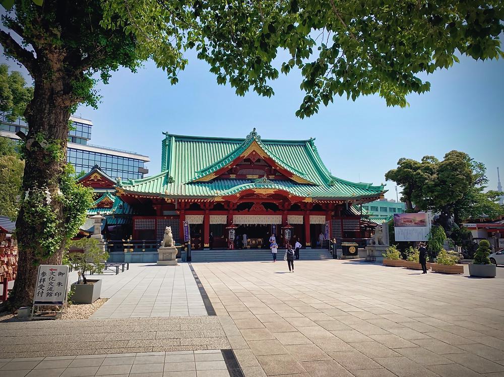 The main pavilion of Kanda Shrine, Chiyoda, Tokyo, Japan.