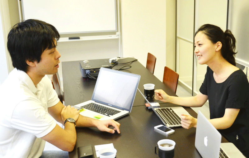 Hiroaki Taira, CEO, Goopa, Inc. and Miho Nakano of anydooR, Inc.