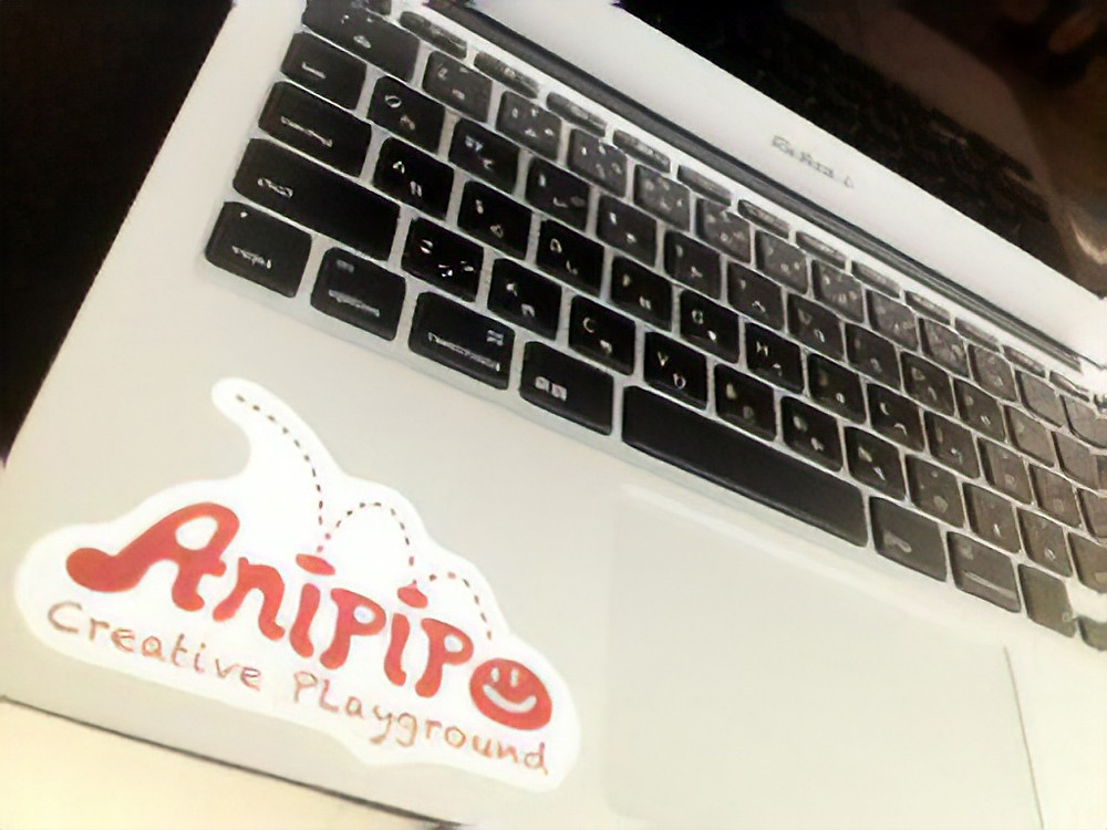 MacBook Air with Anipipo sticker