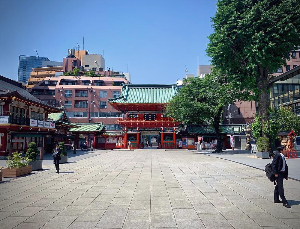 The main gate of Kanda Shrine, Chiyoda, Tokyo, Japan.