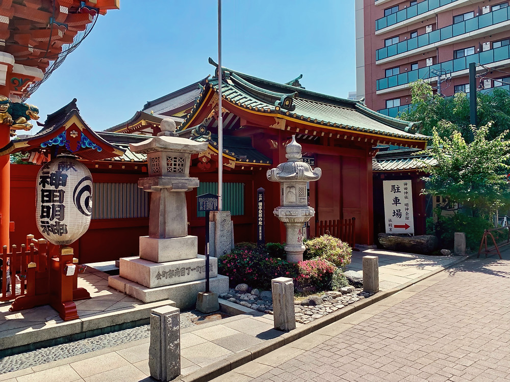 The side gate of Kanda Shrine, Chiyoda, Tokyo, Japan