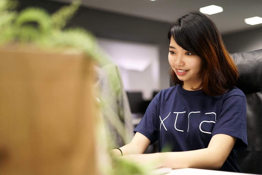 Pretty young Asian woman, Xtra, Inc., Uchi-kanda, Chiyoda-ku, Tokyo, Japan