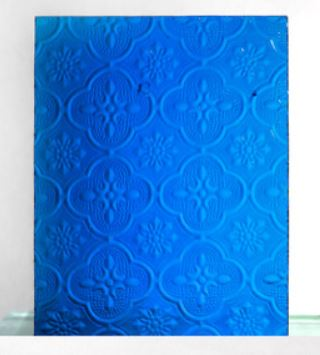 Decorated Glass - Blue
