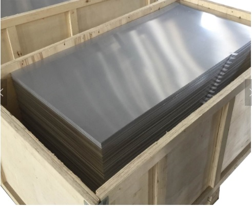 Aluminum Plate in Wooden Skid