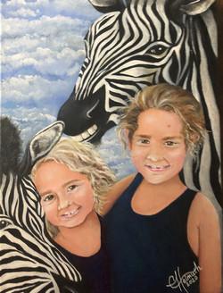 Natalie, Haley & a Couple Zebras