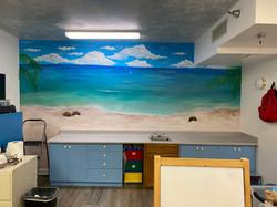 Private Beach mural