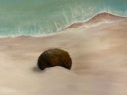 Coconut in Private Beach mural