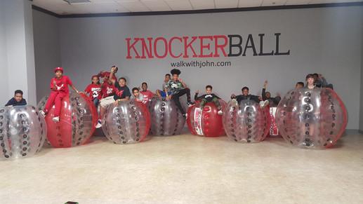 Knockerball birthday party. New birthday party idea.
