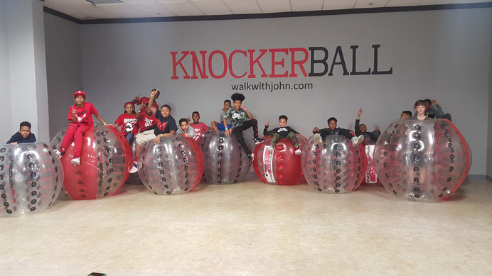 Knockerball birthday party. New birthday party idea.