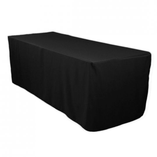 6ft Black Fitted Table Cloth