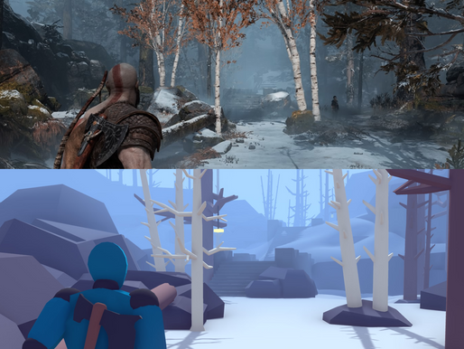 Level Design Case Study - Recreating the first level in God of War