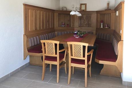 Bauernstube rustikal Eiche Sessel gepoltert mit Armlehne