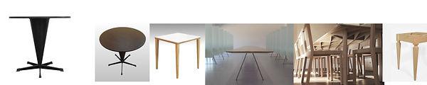 Beispiele von Auftragsarbeiten - Tische, hergestellt in unserer Werkstätte