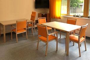 Pensionistenheim Pflegestuhl Ahorn Massivholz