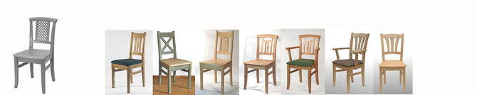 In fast allen heimischen Holzarten, mit Holzsitz oder gepolstert, Armstützen für alle Modelle