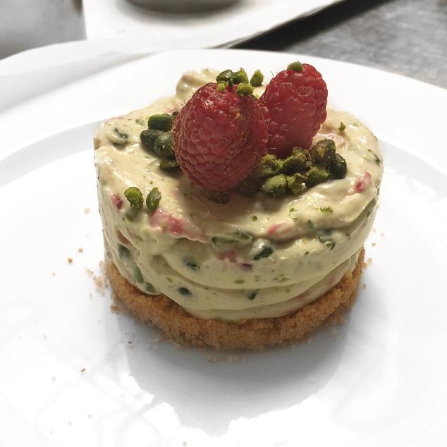 Raspberry, Pistachio and Amaretti Cheesecake Recipe