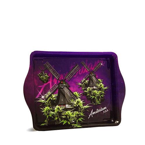 Vassoio Small Violet Weed Amsterdam