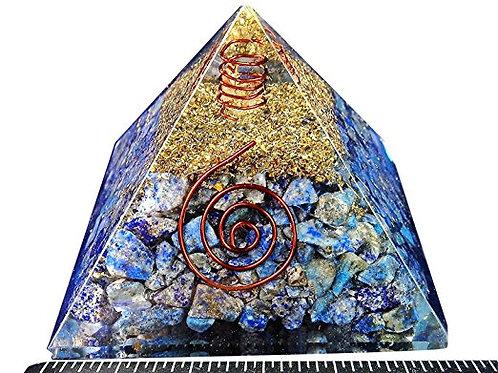Crystal:  Reiki Charged Orgonite Lapis Crystal Pryamid