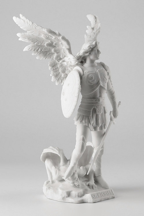 Archangel Saint Michael - White Statue