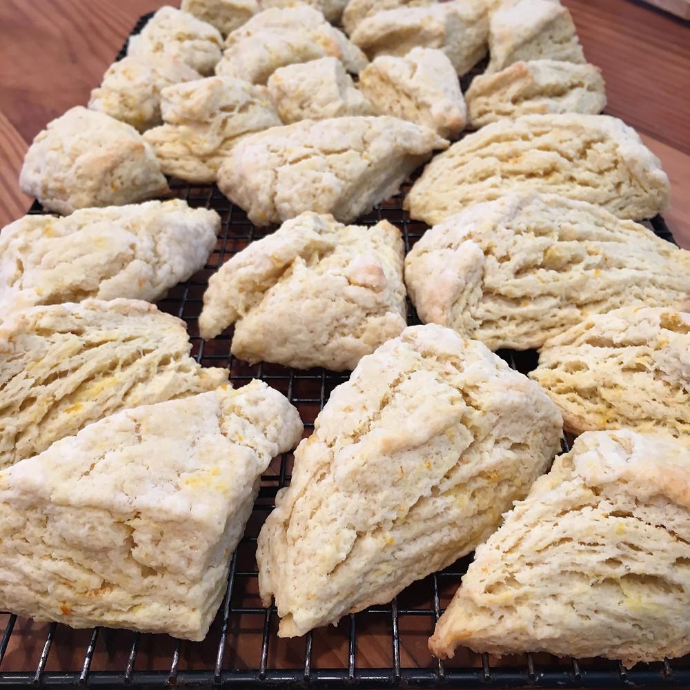 Reduced sugar orange scones