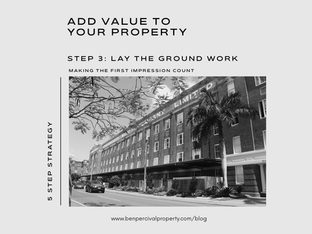 Add Value to your Property | MAKING THE FIRST IMPRESSION COUNT
