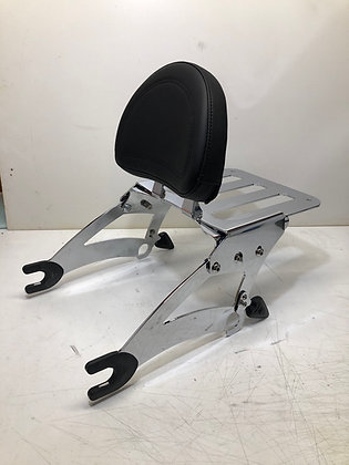 Chrome Backrest Luggage Rack for Indian Motorcycle