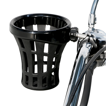"Big Ass® Drink Holder with 7/8"" & 1"" or 1-1/4"" Aluminum Clamp Mount in Black"
